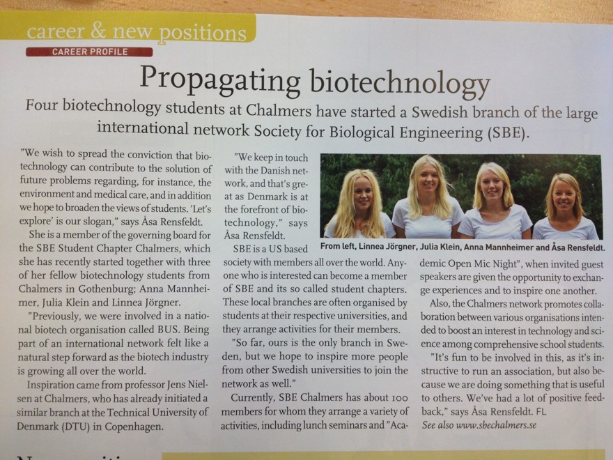 Kemivärlden Biotech, nr 3, mars 2013