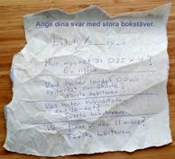 Ett hemligt brev, som leder till kommunikation.