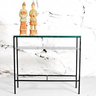 Sideboard med glasskiva, 90 cm