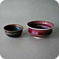 Stig Lindberg, Gustavsberg, stoneware bowls