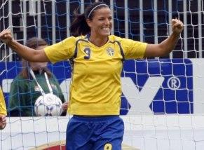 Jessica Landström hoppas på många mål i sin nya klubb.