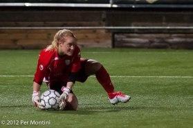 Kristin Hammarström är en av tre målvakter som slåss om att få stå i mål under EM.