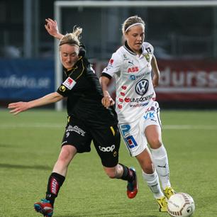 Tufft för KGFC mot Umeå IK.