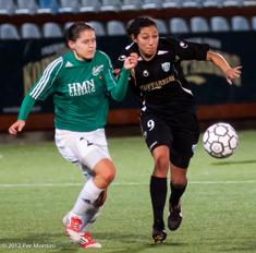 Christen Press hade show på Valhalla IP 2012 när KGFC besegrade Fortuna Hjörring med 3-2 i Champions League.