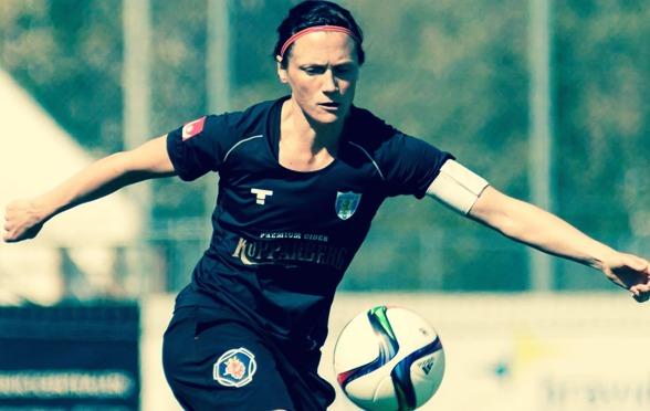 Marlene Sjöberg är inte nöjd efter sju matcher av säsongen, men inte heller helt missnöjd... Foto: PER MONTINI