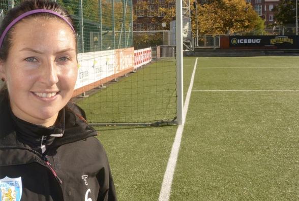 Trotjänasren Anna Ahlstrand är på väg att avsluta sin tionde säsong i KGFC. Hon har ännu inte bestämt sig för om det blir en fortsättning. Foto: TORE LUND