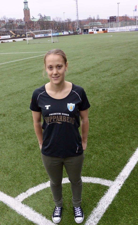 Freja Hellenberg, 26, har tagit vägen via norksa ligatvåan Avaldsnes in i svenska landslaget. I dag blev hon klar för KGFC! Foto: TORE LUND