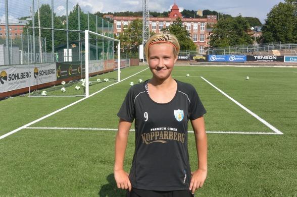 Marika Bergman Lundin, spelare som tagit klivet från F19 till lärling i a-truppen. Foto: TORE LUND