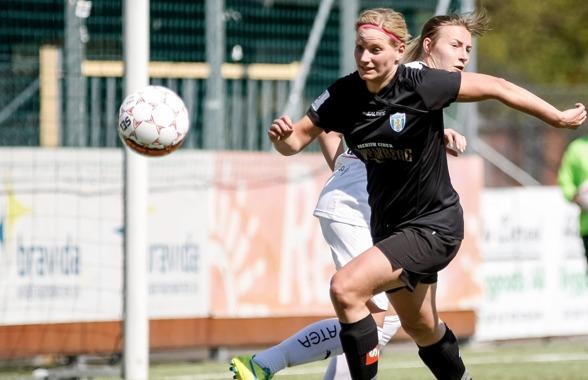 Sara Lindén gjorde en mycket bra match mot Umeå IK på söndagen och fick följakltligen pris som matchens lirare. Foto. PER MONTINI