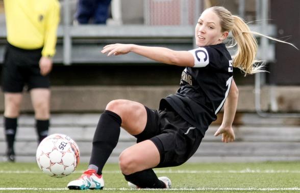 Elin Rubensson gjorde en mycket bra landskamp mot Moldavien på Gamla Ullevi på nationaldagen. Hon hoppas att formen är intakt inför söndagens möte med Eskilstuna. Foto. PER MONTINI