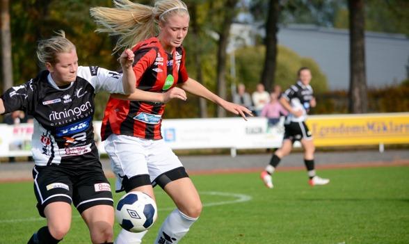 Ebbs Handfast (till höger) har skrivit på för Kopparbergs/Göteborg FC. Klubben hälsar ännu en framtidsspelare välkommen till Valhalla IP.