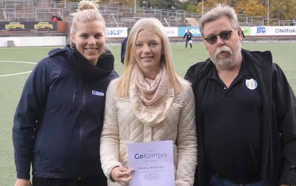 """2015 var det Emma Nilsson från Mölnlycke IF som vann Bostadsbolagets pris """"Go Kompis"""". Nu har du chansen att nominera den du tycker ska ha priset i år! Foto: MICHAEL LUND"""