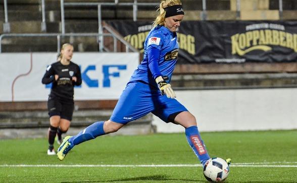Kristin Hammarström gjorde tillfällig (?) comeback när KGFC slog Hovås/Billdal i Svenska Cupens tredje omgång under tisdagskvällen. Foto: ANNELI CRACCHIOLO