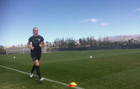 Nya Pernilla Milton är i gång och har avverkat sina första tränIngar med KGFC. Foto: LASSE SVENSSON