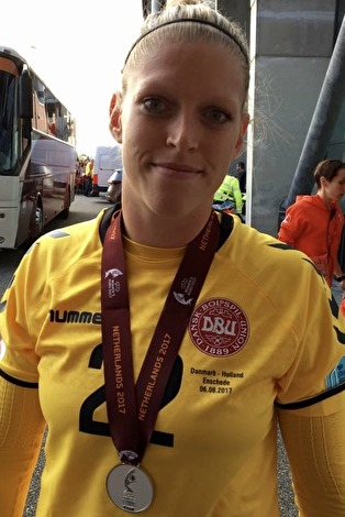 Efter EM-silvret, nu gör Line Geltzer Johansen sin första match i KGFC.