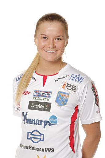 Amanda Johnsson Haahr i Halmia-tröjan.