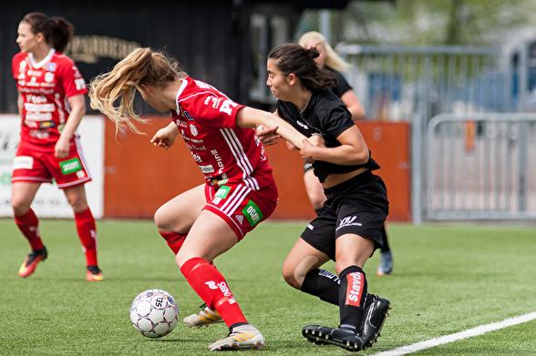 Hårt spel, hårt jobb, en maxinsats från alla krävs för att fixa tre poäng mot svenska mästarna från Linköping. Det vet Annahita Zamanian (bilden) och det vet alla andra spelarna i laget. Foto: PER MON