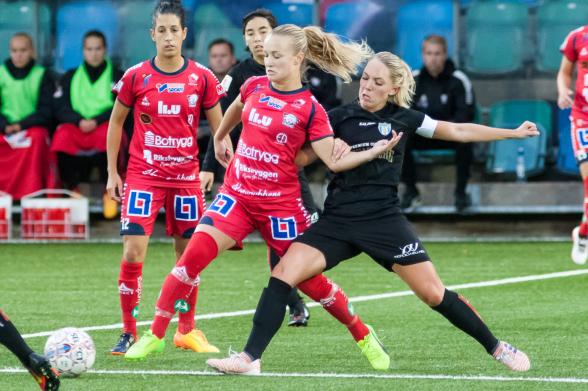 Elin Rubensson gjorde ett fint inhopp i landskampen mot Kroatien. Nu vill hon lyfta i tabellen med KGFC. Foto: PER MONTINI