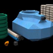 Slamavskiljare för BDT med indrän moduler.