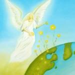 ängel med blommor till jorden 2