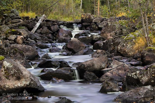 The creek Lurån close to Falun