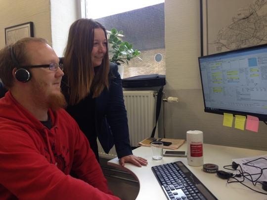 Customer Support Daniel Larsson, t v, rekryterades genom Kraftsamling Trelleborg.