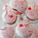 Rosa maräng cupcakes