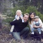 Jenny, Erik Alvin 3 år och Vilmer 10 mån