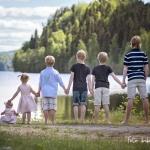 Signe 5 mån, Svea 3 år, Gustav 7 år, Oskar 9 år, Elias 12 år & Alfred 14 år