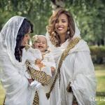 Dop för Isabella, gudmor Lana & mamma Lili