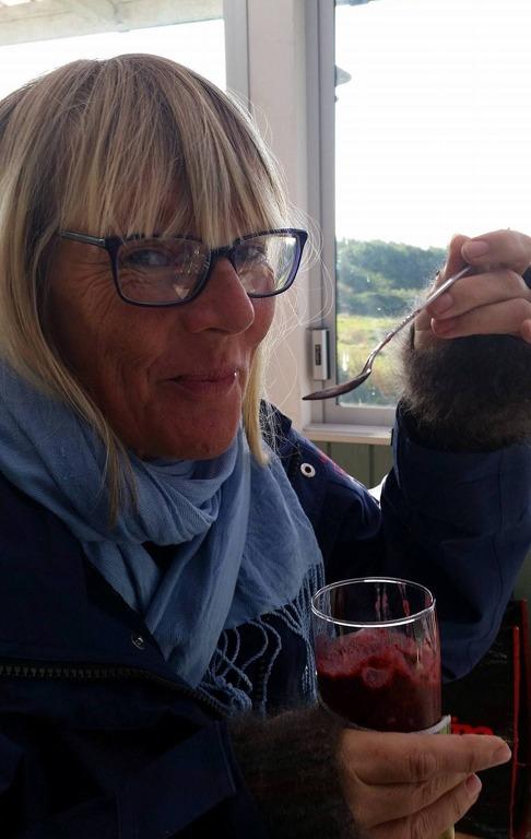 Nygjord Smothie smakar bäst! Härlig hälsofika! Tack för en fantastisk dag vid kusten!