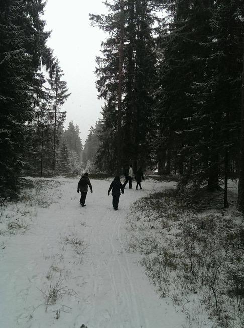 På väg mot ForResten stugan Simlångsdalen