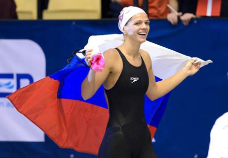 Julia Efimova stod för det enda ind. världsrekordet under EM - på 200m bröstsim.