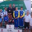 Daniella Nero och Vinko Paradzik på en bronsplats i mixed synchro på 3m
