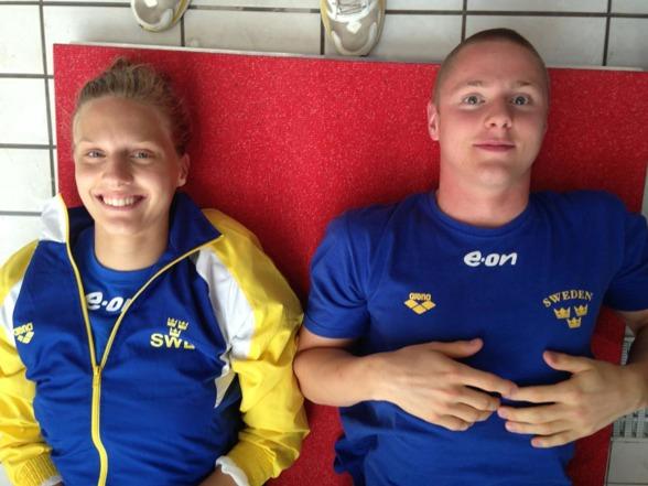 Två av tre simmare av svenskt snitt - ikvällens finalsimningar, Jessica Eriksson och Erik Persson.