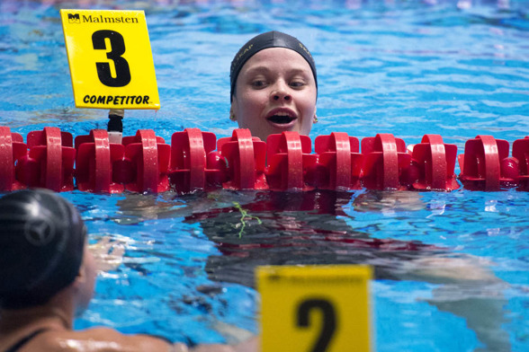 Celine Bertrand vann klart 400m medley