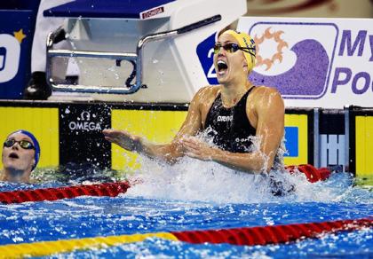 Therese Alshammar har vunnit titeln Årets bästa kvinnliga simmare sex gånger, sedan 2001.