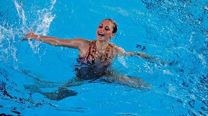 Maria Gerdin har vunnitkostsimstiteln fem gånger under åren.