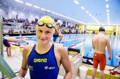 Hanna Eriksson, Jönköping vann 800m fritt under lördagen men hamnade utanför prispallen på 400m fritt idag.