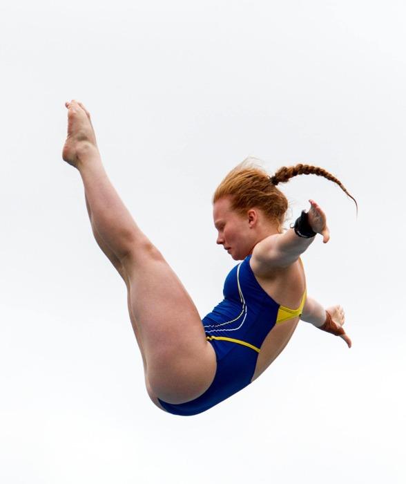 Ellen Ek tog en semifinalplats på 10m efter fantastisk fin hoppning.
