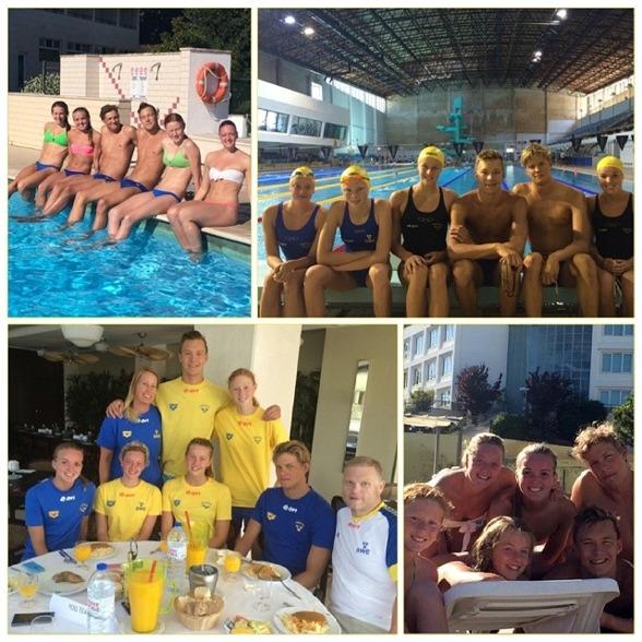 Bilder från uppladdningslägret i Portugal - inför Ungdoms-OS