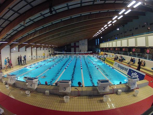 Simhallen i Gundadali, Tórshavn som arrangerar de Nordiska Junior Mästerskapen 2013