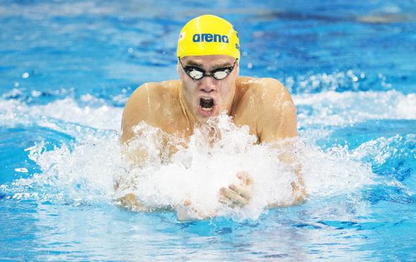 Johanne Skagius vidare till semifinalen med svenskt rekord på 100m bröstsim