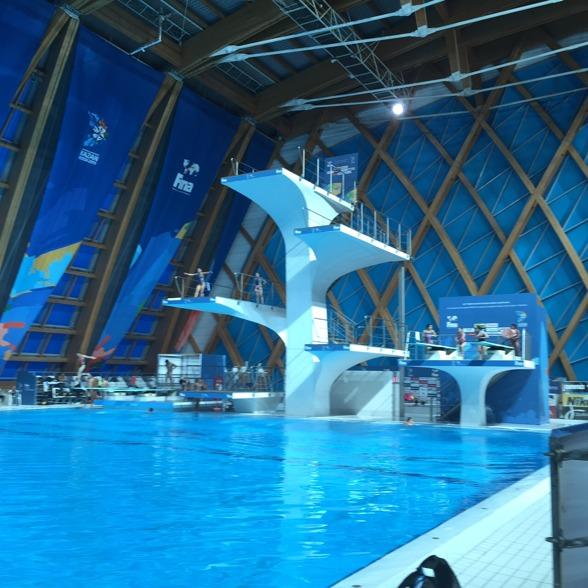 Hopphallen i Kazan, Ryssland, där VM i simhopp 2015 ska avgöras