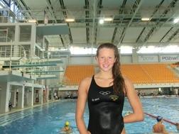 Sophie Hansson simmar semifinal på 50m bröstsim idag.