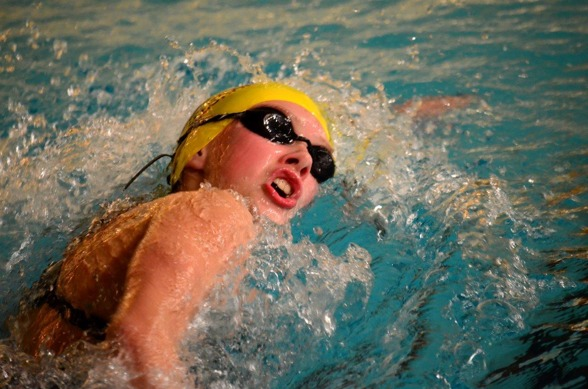 Hanna Eriksson Jönköping vann 14 års flickornas 400m fritt