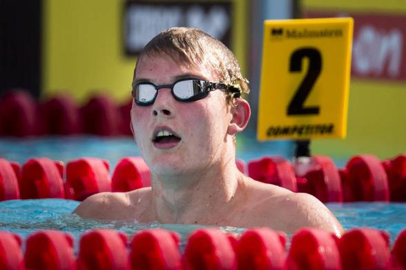 Daniel Kertes vann klart yngsta klassens 800m fritt pojkar