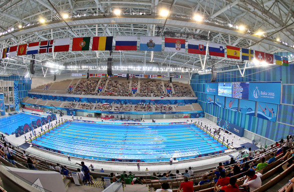 Arenan i Baku (vill man ha bilden ännu större? - klicka på den)