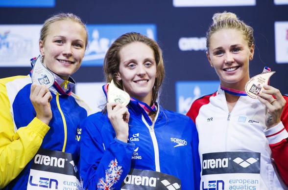 Silver och fjärde ind. medaljen för Sarah under sista passet.