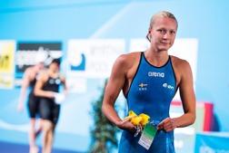 Sarah Sjöström var delaktig i fem av nuo finalsimningar av det svenska teamet - på VM.